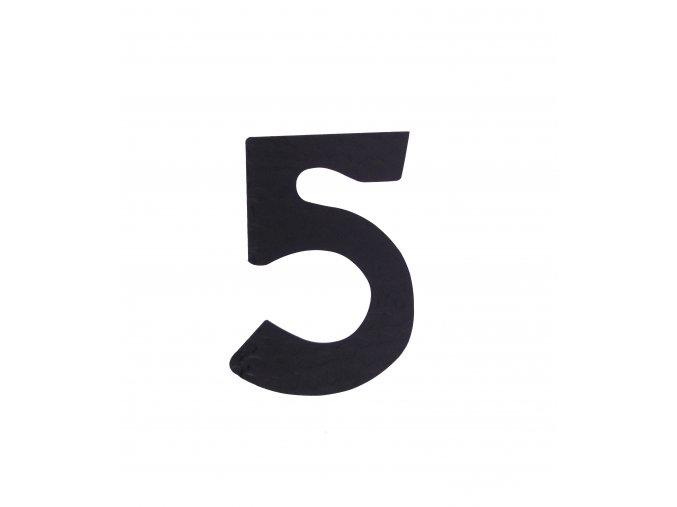 """Kovaná číslica """"5"""" čierna"""
