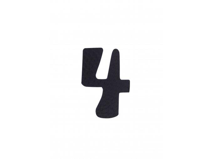 """Kovaná číslica """"4"""" čierna"""