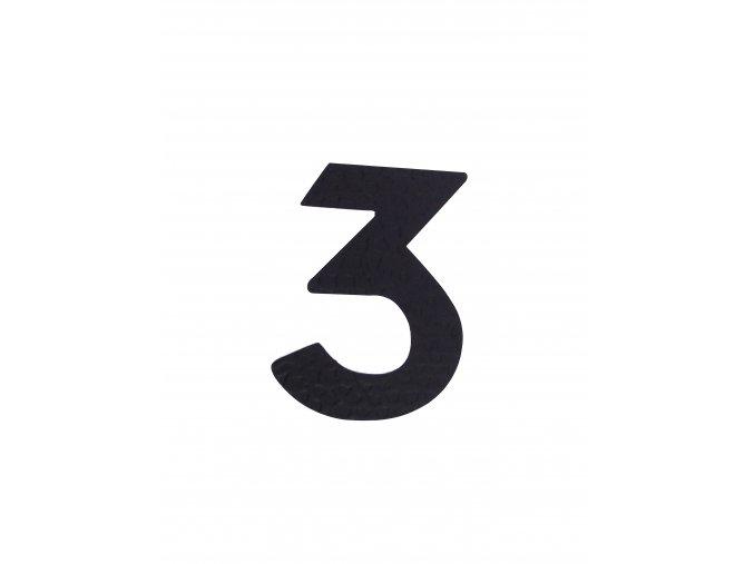 """Kovaná číslica """"3"""" čierna"""