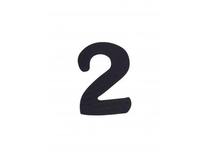 """Kovaná číslica """"2"""" čierna"""