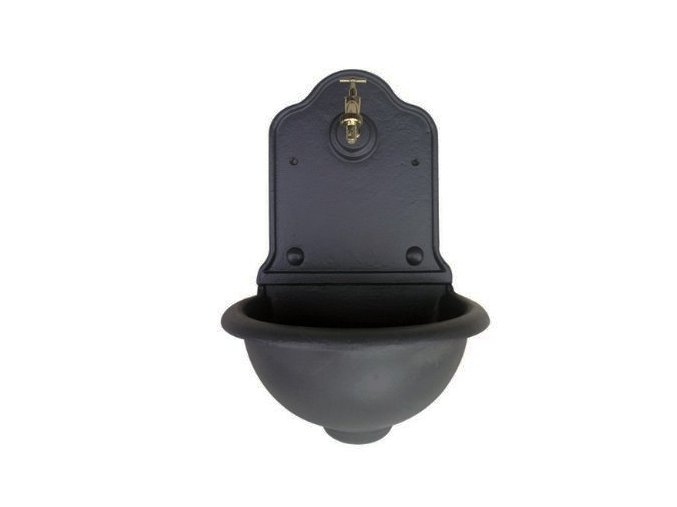 Záhradné umývadlo hladké čierne