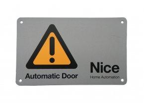 Tabuľka Nice Automatic Door