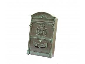 Poštová schránka zelená patina