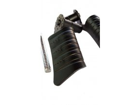 Kľučka kovaná čierna - zahnutá