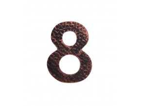 """Kovaná číslica """"8"""" meď"""