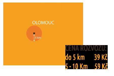 Mapa rozvozu