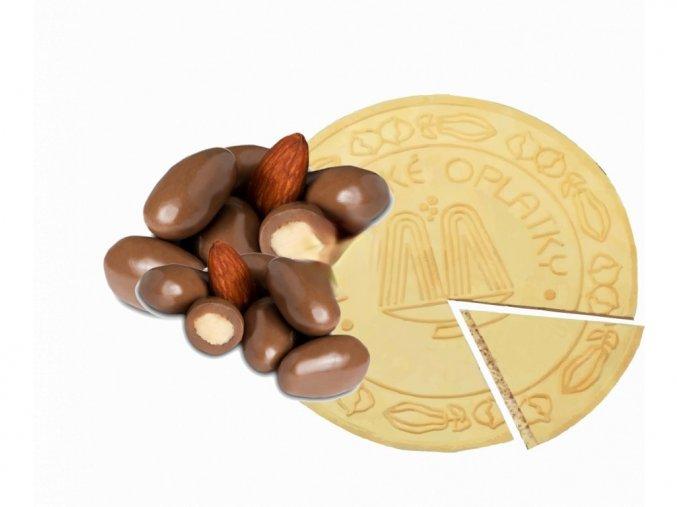 Lázeňské oplatky - Mandle v čokoládě