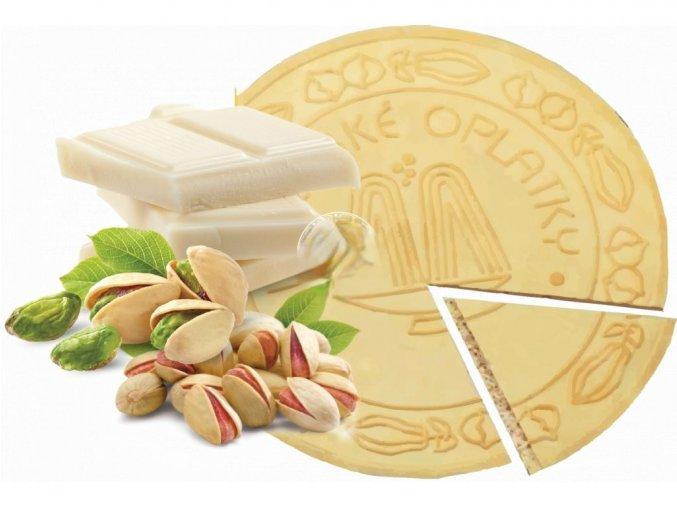 Lázeňské oplatky - Pistácie s bílou čokoládou