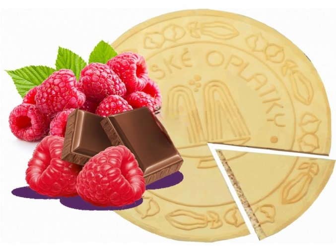 Lázeňské oplatky Maliny v čokoládě