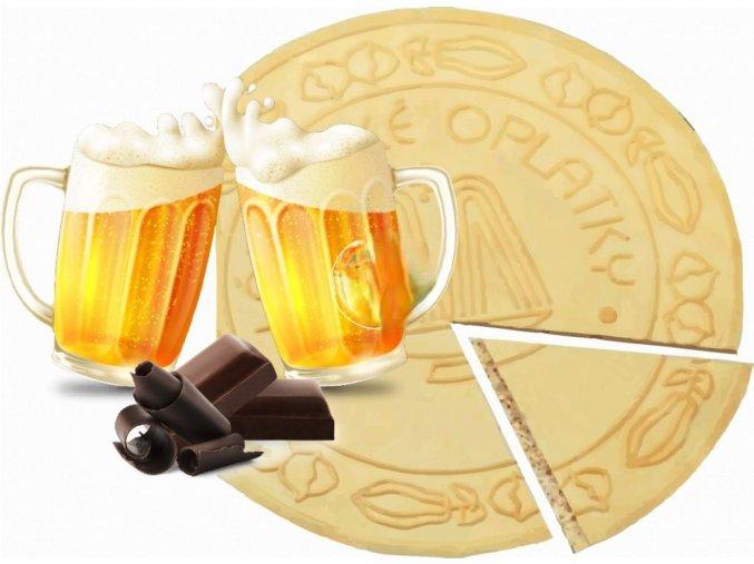 Lázeňské oplatky - Pivo v čokoládě