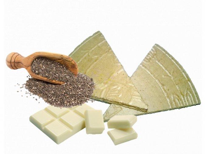 Lázeňské trojhránky Chia s bílou čokoládou