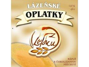 Lázeňské oplatky Poděbrady Bezlepkové, vanilkové  4ks
