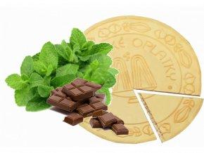 Lázeňské oplatky - Máta v čokoládě