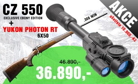 Akční set CZ550 Exclusive Ebony Edition + Photon RT 6x50