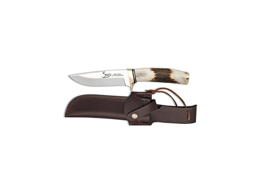 Albainox lovecký nůž 11 cm jelení paroh