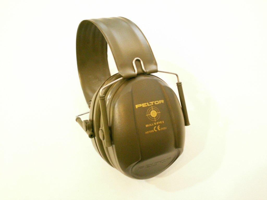 3M PELTOR Bull´s Eye I  H515FB olivová střelecká sluchátka se skládacím obloukem