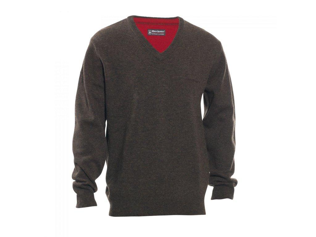 Deerhunter Hastings pletený svetr s výstřihem V