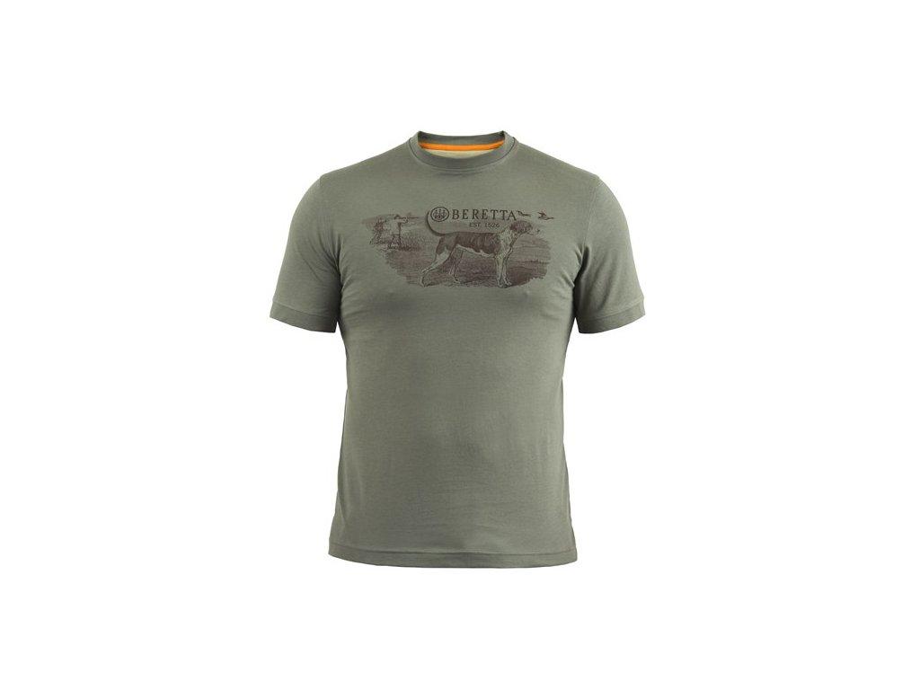 Beretta tričko Hunting Dog - zelené