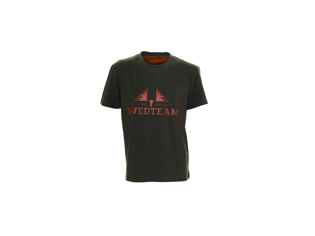 Swedteam SWEDTEAM tričko s potiskem zelenohnědé