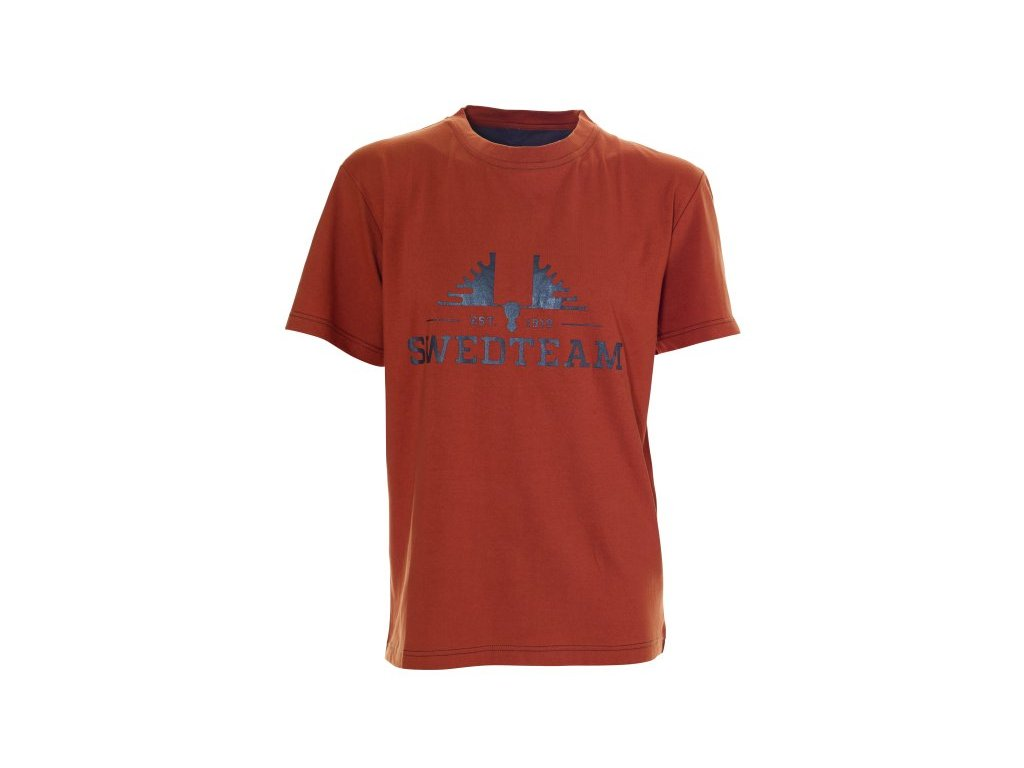 Swedteam SWEDTEAM tričko s potiskem cihlové