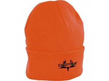 Swedteam Pletená čepice oranžová