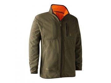 Deerhunter Gamekeeper fleecová bunda oboustranná oranžová