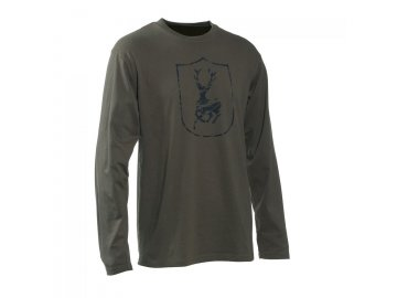 Deerhunter logo tričko s dlouhým rukávem- jelen