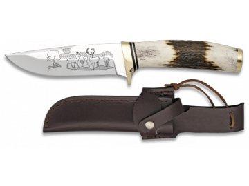 Albainox lovecký nůž 11 cm s kresbou na čepeli