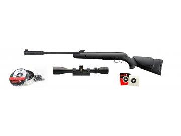 Vzduchovka Gamo Quiet Cat 4,5mm  set s puškohledem