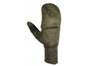 Windproof flap gloves lovecké rukavice s klopou b. Dub