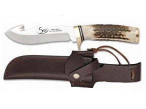 Albainox lovecký nůž s párákem 12 cm rukojeť jelení paroh