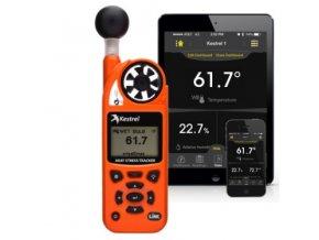 Kestrel 5400 S indexem tepelného stresu, LiNK připojením, kompasem a větrnou korouhvičkou