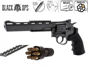 Vzduchový revolver Norica 6´Black Ops