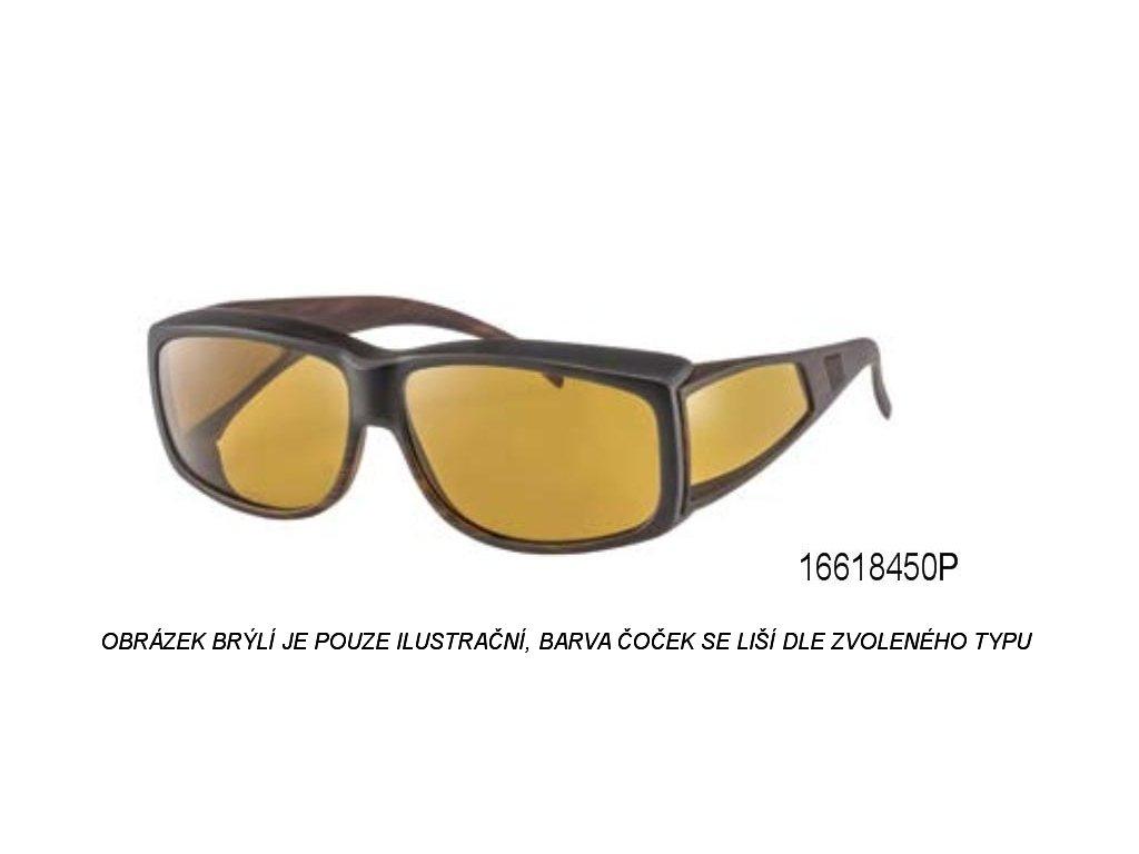 Filtrační brýle 550nm tmavě hnědojantarové s polarizací - malé