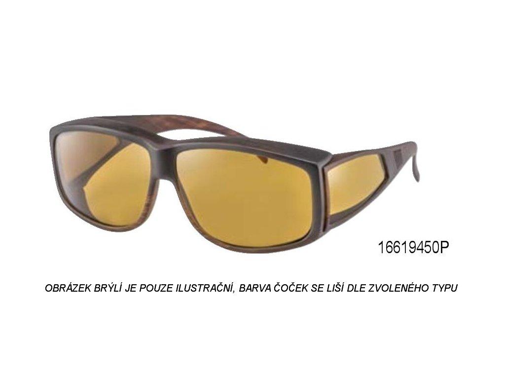 Filtrační brýle 550nm tmavě hnědojantarové s polarizací - velké