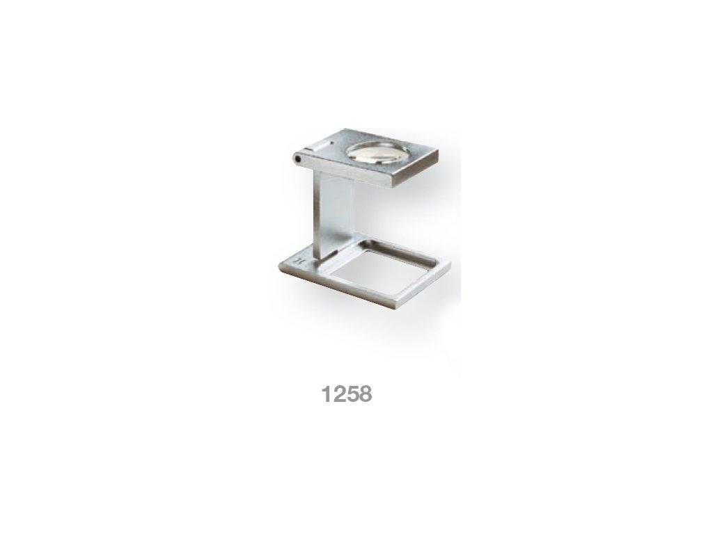 Lupa stojánková kovová skládací zv. 6x