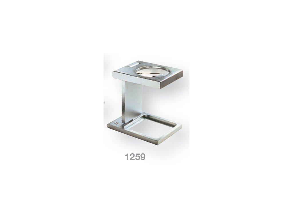 Lupa stojánková kovová skládací zv. 5x