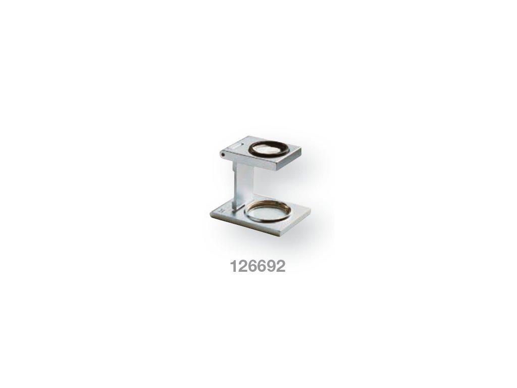 Lupa stojánková kovová skládací zv.  8,0