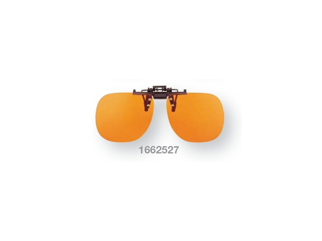 Filtrační klip na dioptrické brýle - oranžový