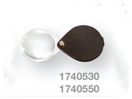 Kapesní lupa v koženém pouzdře zv. 6x