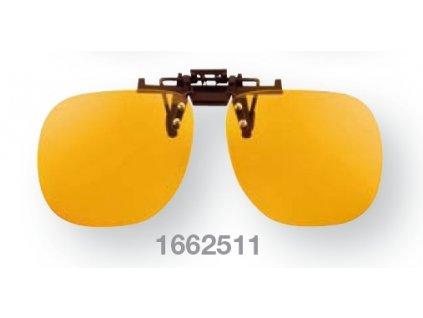 Filtrační klip na dioptrické brýle - světle oranžový