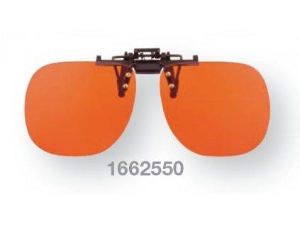 Filtrační klip na dioptrické brýle - jantarový