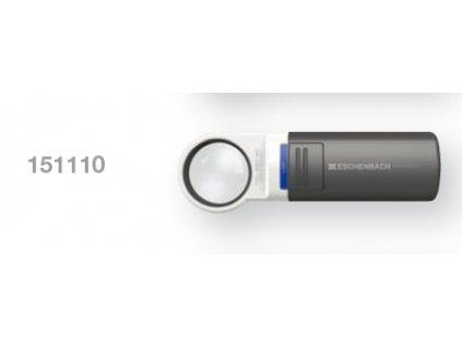Kapesní lupa s LED osvětlením zv. 10,0x