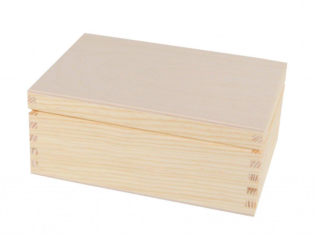 4577 1 drevena krabicka s vikem 19 5 x 14 x 8 cm