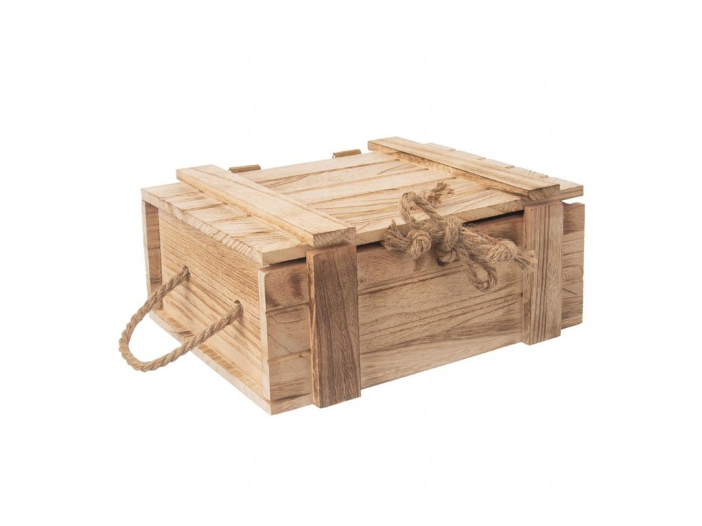 5321 3 drevena truhla bedynka na darky 30 x 21 x 12 cm