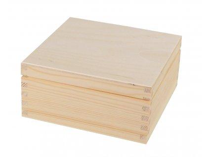 4556 drevena krabicka s vikem 17 5 x 17 5 x 8 cm