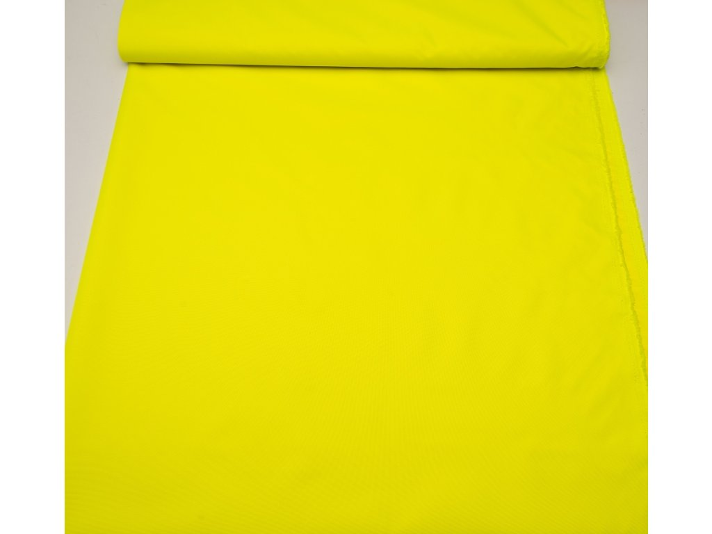 Kočárkovina metráž šíře 160 cm, nepromokavá látka - reflexní žlutá