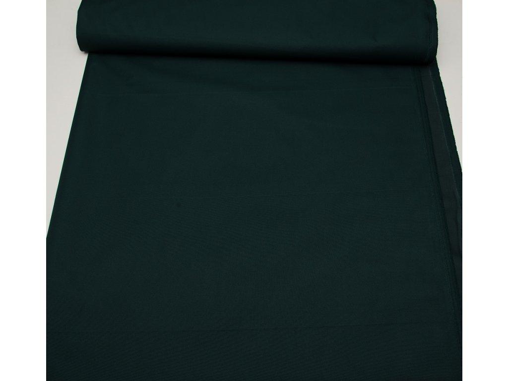 Kočárkovina metráž šíře 160 cm, nepromokavá látka - tmavě zelená