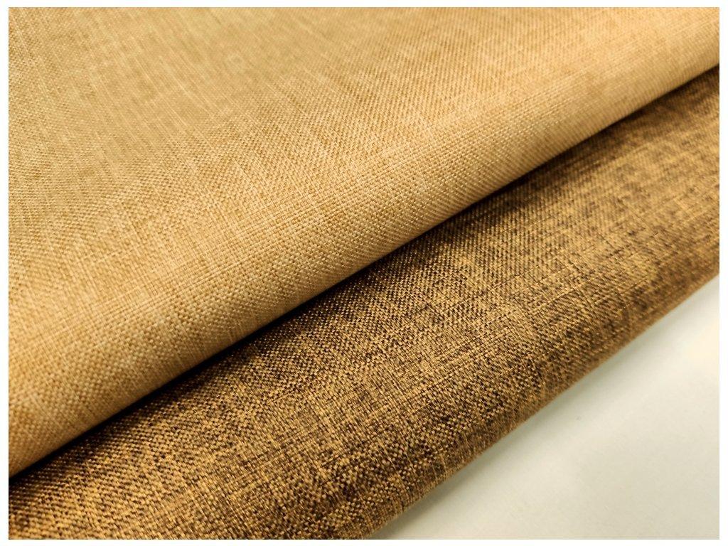 Kočárkovina metráž šíře 160 cm, nepromokavá látka s oboustranným melírem - béžový