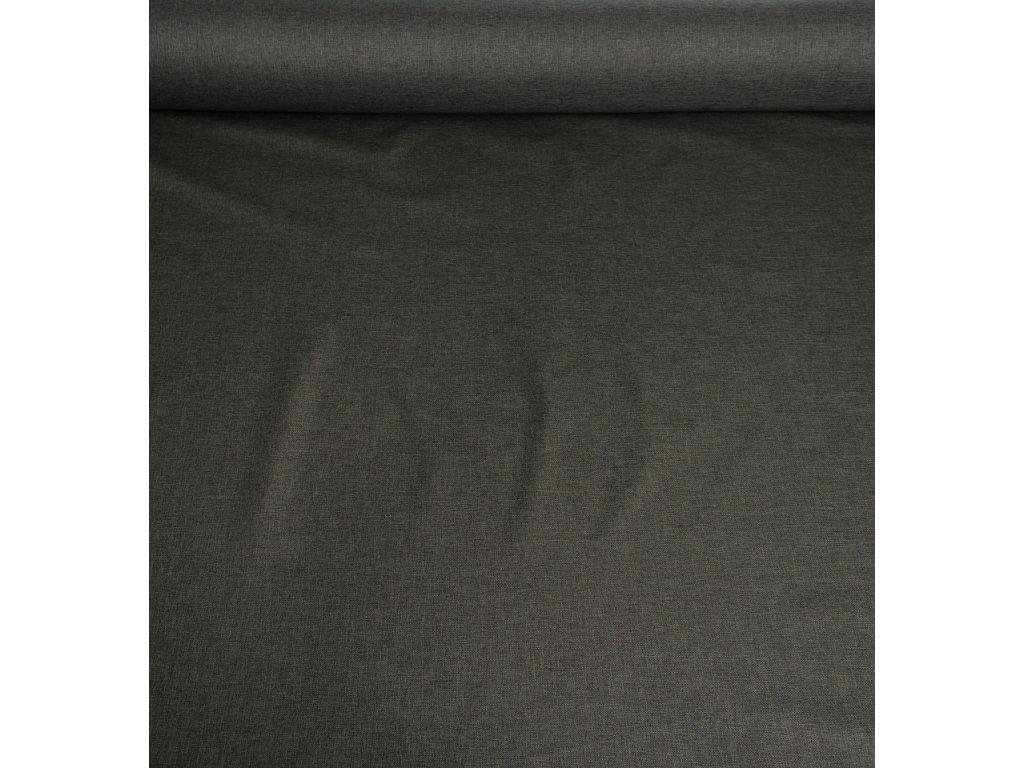 Kočárkovina metráž šíře 160 cm, nepromokavá látka s oboustranným melírem - tmavě šedý